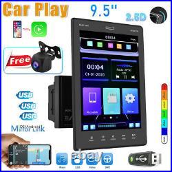 Apple Carplay 2Din 9.5 Car Stereo Radio MP5 BT FM RDS Mirror Link + AHD Camera