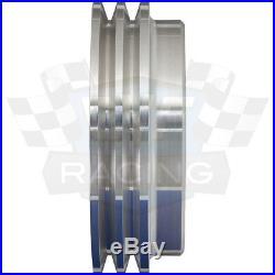Billet Aluminum Pontiac Pulley Kit 2V V-belt Pulleys GTO Power Steering