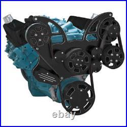 Black Diamond Pontiac Serpentine System for 350-400, 428 & 455 V8 AC, PS & Alt
