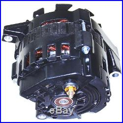 Black High Output Alternator Fit Gm 65-85 1-wire One Wire 220 Amps 150a Idle