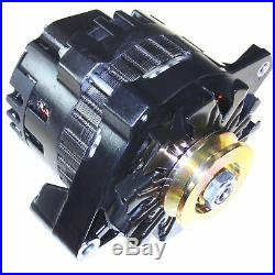 Black High Output Alternator Fits Buick Gm 65-85 1-wire One Wire 220 Amps