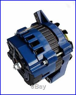 Blue High Output Alternator Fit Gm 65-85 1-wire One Wire 220 Amps 150a Idle
