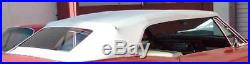 Cadillac All 65-70 Convertible Top+rear Glass Assembly White Vinyl