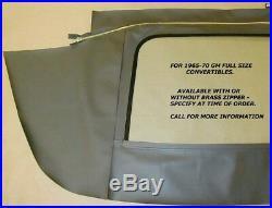 Chevrolet Impala 1965-70 Convertible Top+rear Glass Assembly Black Vinyl