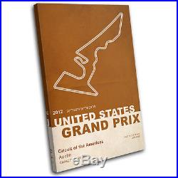 Circuit of the Americas United States Grand Prix F1 Race Track Canvas Art Print