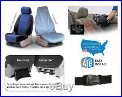 Coverking Custom Seat Covers Genuine Leather Front and Rear Row 3 Colors