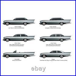 Dashboard Cap Cover Skin Overlay for 1963-64 Bonneville Grand Prix 1pc Black