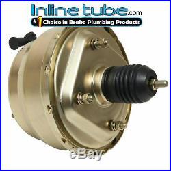 Dual Diaphragm 8 Power Brake Booster Gold Zinc Universal Hot Rod Universal GM