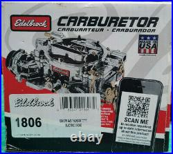 Edelbrock 1806 Thunder Series AVS Carburetor 4v 4bbl 650 CFM Electric Choke SC