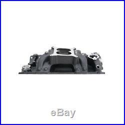 Edelbrock 75013 Air Gap Aluminum Intake Chevy SBC 283 302 327 350 400 Black