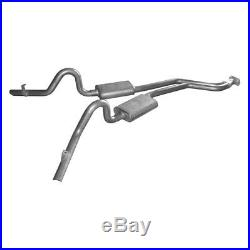 For Chevy Malibu 78-83 Pypes 409 SS Cat-Back Exhaust System w Split Rear Exit