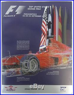 Formula-1 United States Grand Prix Set of All 8 Program F-1 Indy Ferrari McLaren