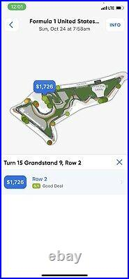 Formula 1 tickets United States Grand Prix October 24, 2021
