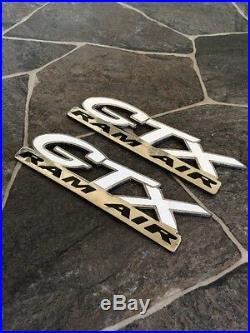 GM SLP GTX 1997-2003 Pontiac Grand Prix Ram Air Badges Emblems Rare 3.8 V6 Oem