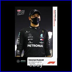 George Russell 2020 Topps Now Formula 1 F1 Card #19 Mercedes Sahkir Grand Prix