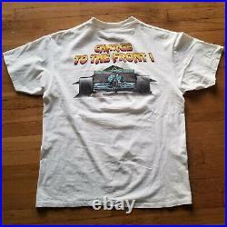 Grand Prix f1 race car tee T Shirt Size XL single stitch tee preowned vintage XL