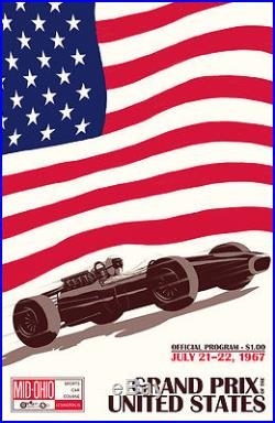 Grand Prix of the United States 24x36 Canvas Racing Poster