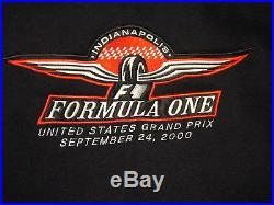 Indianapolis F1 Formula One USGP United States Grand Prix Sweatshirt 9/24/2000