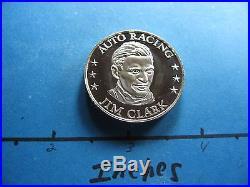 Jim Clark Formula One Grand Prix Racing 1946-1971 Performer 25 Years Silver Coin