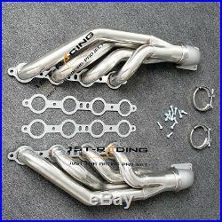LS1 LS6 LSX GM V8 Turbo Exhaust Manifold+2PCS Elbows T3 T4 TO V Band 3.0 3 INCH