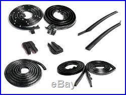 METRO 65-66 GM B 2-DR HT DOOR ROOF TRUNK 1/4 9-PC Weatherstrip Rubber Seal Kit