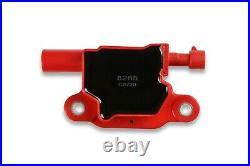 MSD 82658 Ignition Coil Blaster LS 2005-2013 GM LS2/LS3/LS4/LS7/LS9 Red 8-pack