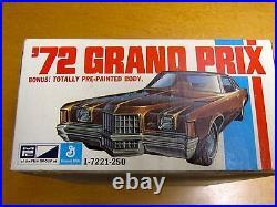 Mpc 1972 Pontiac Grand Prix Mint Unbuilt Model Kit