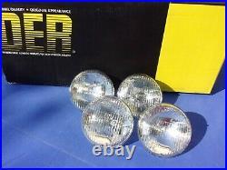 NEW 1960-67 Impala Belair Chevelle T-3 Guide Headlight Set of 4 Headlamp Bulbs
