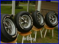 NOS 15x7 Mag Wheel Rally II Pontiac Center Cap Goodyear Eagle GT II 225 70 15 GM