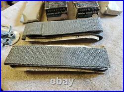 NOS Pair Grey Vintage Lap seat belt hot rat street rod custom gasser Sears. 4