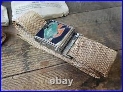 NOS Pair Tan Vintage Lap seat belt hot rat street rod custom gasser bomb Sears