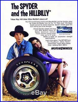 NOS Vintage Motor Wheel Spyder Chevy Camaro Chevelle Nova Pontiac GTO Center Cap