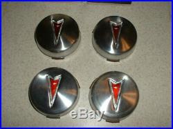 NOS Vintage Pontiac Rally II Ralley Wheel Center Caps GTO Lemans Firebird 527223