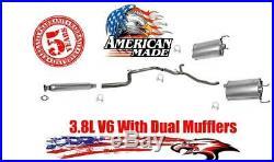 New Dual Exhaust Muffler System Gaskets for Pontiac Grand Prix 3.8L V6 1997-2002