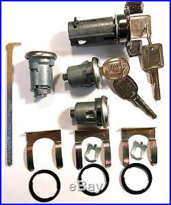New GM OEM Chrome Ignition/Doors/Trunk Lock Key Cylinder Set With Keys To Match
