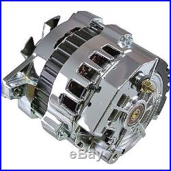 New Premium Quality Hi Output Chrome Alternator 220 Amps 1 Wire Self Exciting GM
