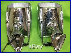 NuVue Vintage Mirror Spotlight Set Custom Hot Rat Rod Mopar Ford Chevy
