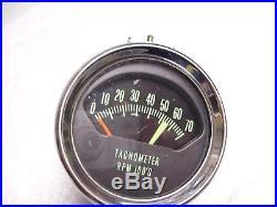 Original 1960' s GM Chevrolet Knee Knocker dash Tachometer gauge chevelle impala