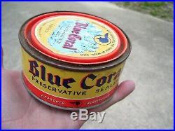 Original GM Pontiac Blue coral General motors division can auto wax vintage gto