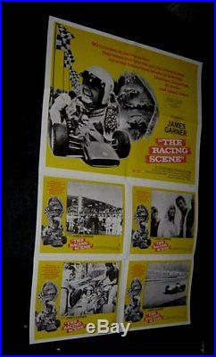 Original THE RACING SCENE James Garner GRAND PRIX FORMULA 1 28X44 Special Poster