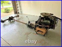 Pontiac 400-4 speed GTO Lemans GT-37 Complete Drive Train Engine Trans & Axle