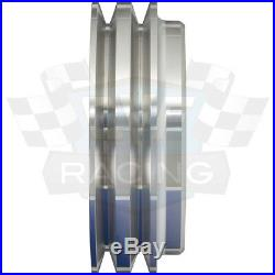 Pontiac Pulley Kit 350 400 428 455 V-Belt Billet Aluminum High Flow Ratio 2V