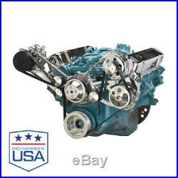 Pontiac Serpentine Conversion AC, Power Steering & Alternator PONT 428 455 v8