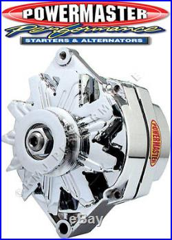 Powermaster 37127 GM 100 Amp Alternator 10SI Style with 1V-Belt Pulley Chrome