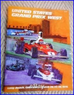 Program United States Grand Prix West 1976 Ontario