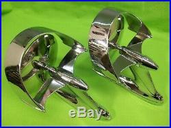 Rare Vintage Nelmor Bat Wing Halo Mirrors Hot Rat Rod Custom