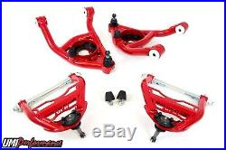 UMI 64-72 GM A-Body Chevelle Front Control Arms Kit 1/2 Ball Joints/ Delrin Red