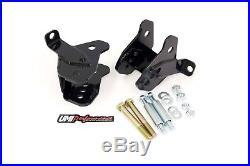 UMI 64-72 GM A-Body Rear Lower Control Arm Relocation Brackets Bolt In Black