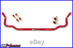 UMI Performance 64-72 GM A-Body Chevelle 1.250 Solid Front Sway Bar Red