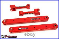 UMI Performance 68-72 GM A-Body Rear Upper & Boxed Lower Control Arm Kit Red